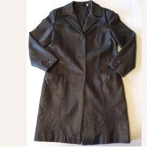 Preston & York Lambskin leather Trench Coat